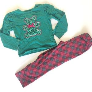 Other - 4T Girl Christmas Holiday Pajama Outfit Clothes